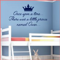 Personalised Prince Wall Sticker Once Upon a Time ~ decals